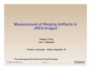49. Measuring image artifacts - JPEG ringing - 2011