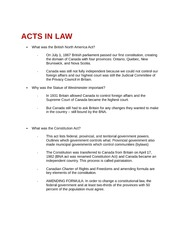 Acts in Law