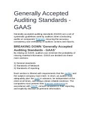 Generally Accepted Auditing Standards.docx
