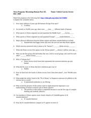 BSC2005 Becoming Human Worksheet - Nova Program Becoming ...