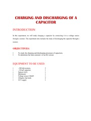 C4 Charging and Discharging of a Capacitor