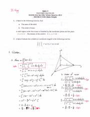 Math 21D Quiz Solutions 3