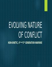EVOLVING NATURE OF CONFLICT- lec 2-modified.ppt