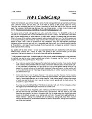 the homework 1 code bootcamp