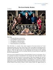 The Great Gatsby, Review