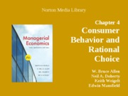 Consumer behavior and rational choice