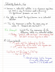 CHEM 122A - Study Guide - Chapter 17 - Ksp