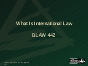 Introduction What is International Law