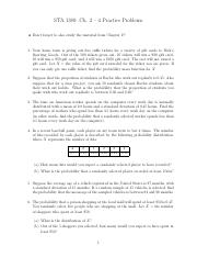 STA 1380 - Fall 15 - Ch. 2 - 4 Practice Problems