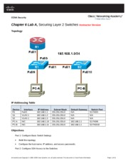 Chapter 6 Lab A,  Securing Layer 2 Switches