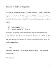 lecture2 1002 Rules of Exponents