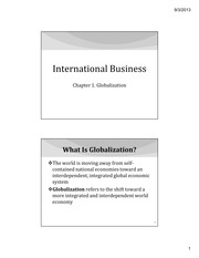 IB Chapter 01 - Globalization
