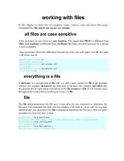 Linux Handout -  Files