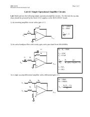 Lab (2) - Simple Op Amp Circuits - 2011.pdf