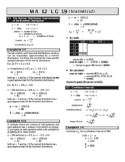 MATH 12 Statistics Worksheet 2 Solutions