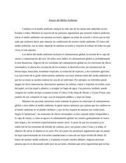 El medio ambiente essay