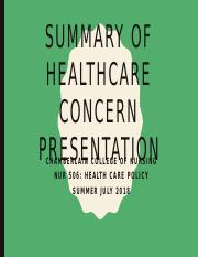 _ Summary of Healthcare Concern Presentation1.pptx