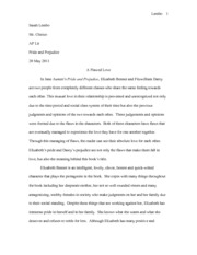 Pride and Prejudice Paper