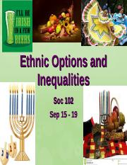 Ethnicity and Inequalities Sep 14 -2.ppt