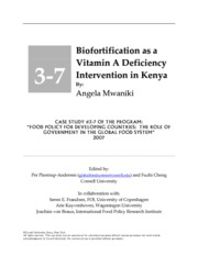 Mwaniki (2007) Case 3-7_Biofortification as a Vitamin A Deficiency Intervention in Kenya