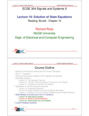 Lecture 19- Solution of State Equations