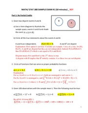 SPRING 2014 MATH_STAT 380  Exam 1 REVIEW_Answer Key