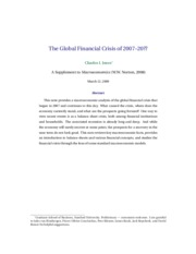 "The Global Financial Crisis of 2007â€""20"