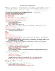 Dr Moore's Exam III Study Guide