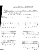 physics homework: displacement