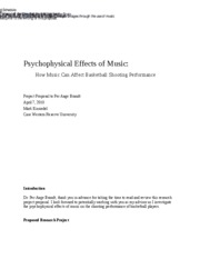 Psychophysical Effects of Music