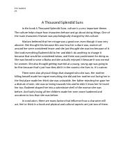 mwds splendid suns major works data sheet guntert ap literature  1 pages a thousand splendid suns essay