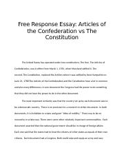 Articles of Confed vs Cons FRE