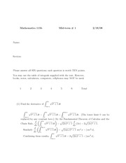 Midterm I (2008) with answers