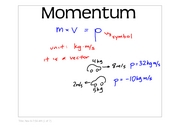 PhysB   notes- momentum