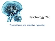 345 Chap 7 Traquilizer and sedative hypnotics