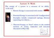 Lecture 9 on Work