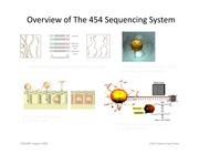 Lecture 5 - Overview of The 454 Sequencing System