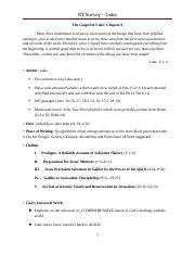 6 The Gospel of Luke Worksheet