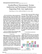 SynchroPhasor_Measurements_SystemArchitecture_and_Performance_Evaluation_in_Supporting_Wide_Area_App