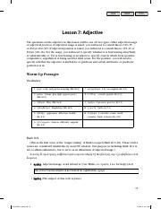 Lesson 7 Adjective - K. Gentry