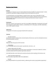 Business Case Project - Outline.doc