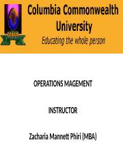 Operations Management Power point Presentation 1