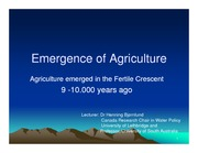 Topic 1-The emergence of agriculture slides