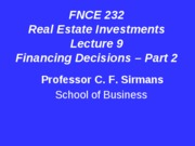 Lecture+9+FNCE+232+Financing+Decisions+Part+2