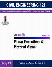 Lecture 5 - Planar Projections(1)