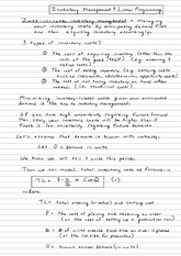 Inventory Management ACCT 311 Class Note