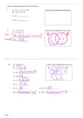 Set Notation Notes Continued