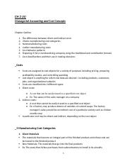 CH 2 (A) - Managerial Accounting and Cost Concepts.docx