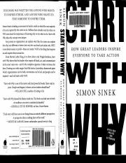 Start With Why ch. 3,4 - Sinek