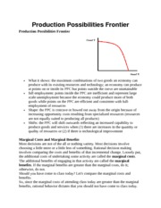 Basic EconomicsProduction Possibilities Frontier